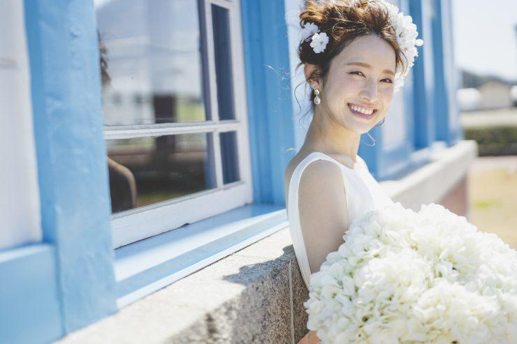 笑顔の花嫁