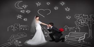 青山のセレブ婚活 結婚相談所スターマリアージュ青山/幸せな結婚式のカップル