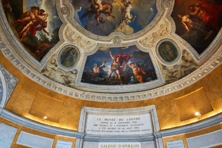 美術館の天井絵